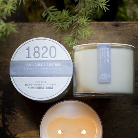1820 house candles 1820 house candle co s 15 oz elemental holiday signature candle for the home