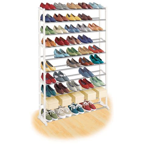 Walmart Shoe Racks by Lynk 50 Pair Shoe Rack White Walmart