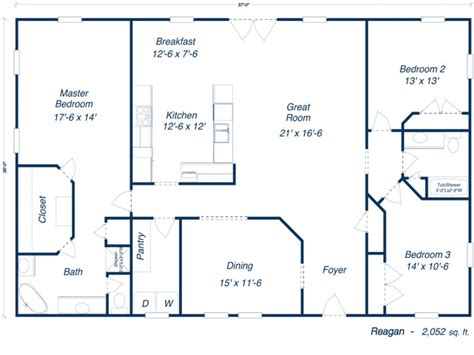 Builders Floor Plans 40x60 Metal Building House Plans Studio Design