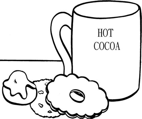 hot chocolate coloring page coloring pages