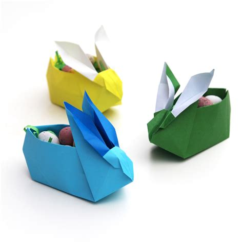 Origami Easter Bunny Basket - origami easter bunny baskets gathering