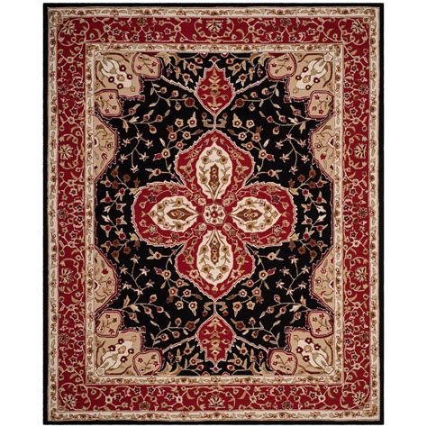 caring for wool rugs safavieh easy care black 8 ft x 10 ft area rug ezc718b 8 the home depot