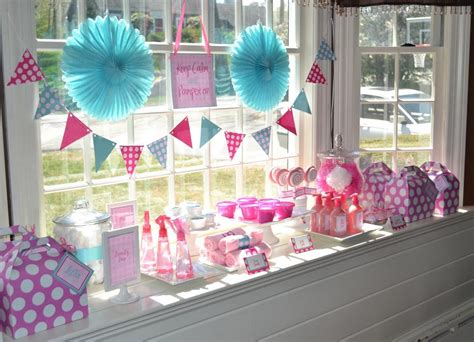birthday decorations ideas at home girls birthday spa party home party ideas