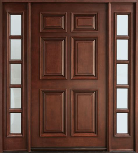 Wood For Exterior Doors Front Door Custom Single With 2 Sidelites Solid Wood