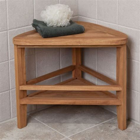 teak shower bench corner teak corner shower stool new home master 2013 pinterest