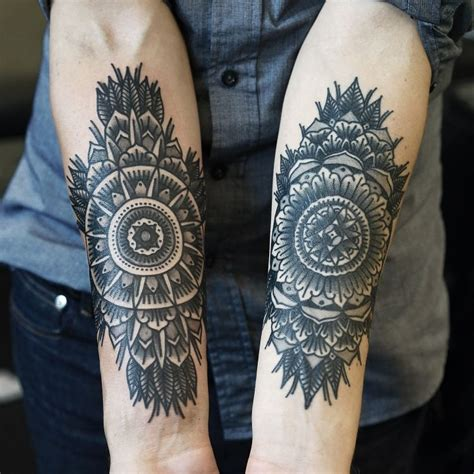 Ideen Unterarm Mann by Unterarm Ideen Mann Innenseite Geometrisch Mandala