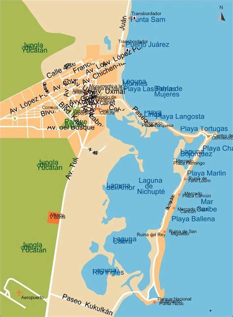 maps cancun cancun city map