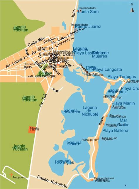 map of cancun cancun city map