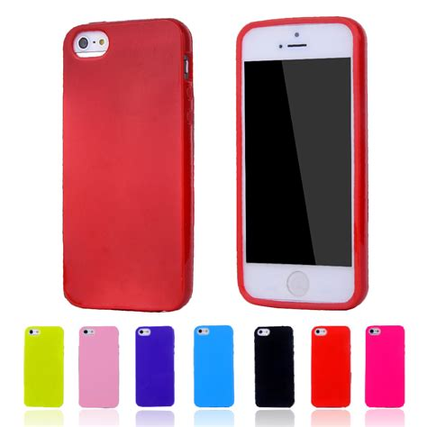 Softcase Bentuk Iphone 5 color silicone tpu gel soft for apple iphone 5 5s rubber material soft back cover for