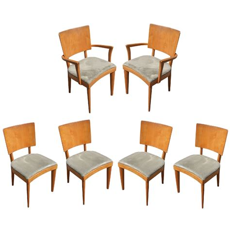 6 vintage heywood wakefield stingray dining side chairs