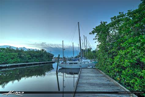 port salerno port salerno manatee park marina sailboat royal stock photo