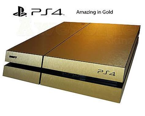 Ps4 Sticker Gold by Playstation 4 Ps4 Brushed Gold Skin Wrap Decal Cover