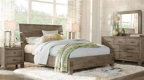 panel bedroom sets crestwood creek gray 7 pc panel bedroom