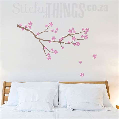 wall stickers cherry blossom cherry blossom branch wall sticker stickythings co za