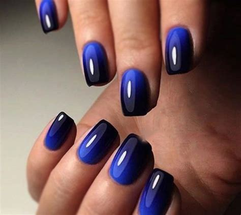 blue ombre nails top 60 navy blue nail designs