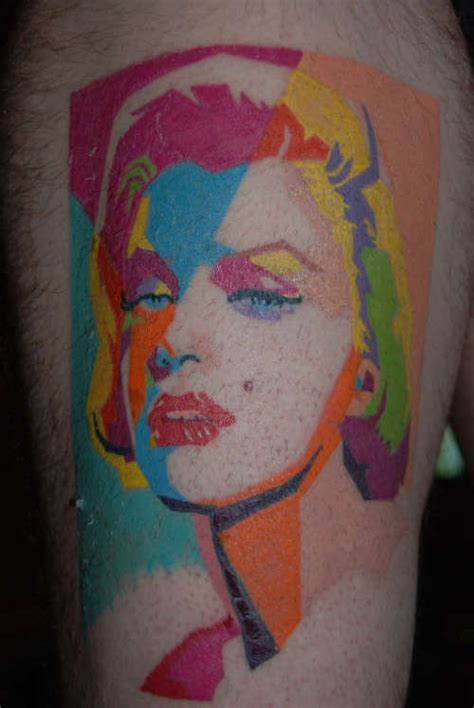 pop art tattoo pop marilyn tattoos