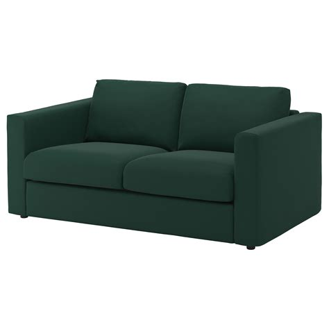 2 seater couch cover vimle cover for 2 seat sofa gunnared dark green ikea