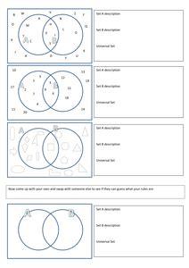 28 Venn Diagrams Igcse Activities By Tristanjones Uk Teaching