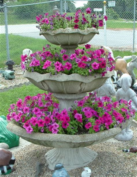 Tiered Flower Planters by Barenie S Lawn Decorations Planters