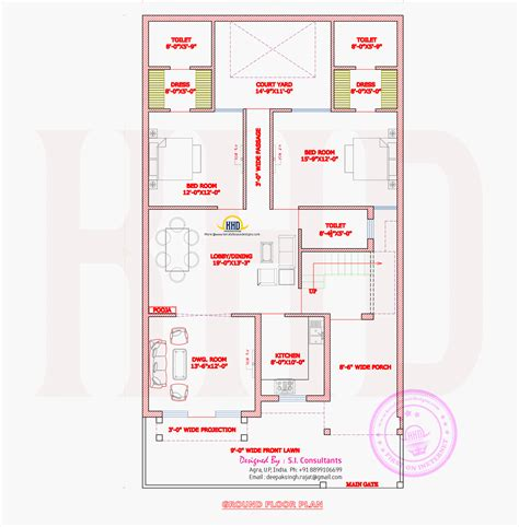ground floor plan mughal style house architecture kerala home design and