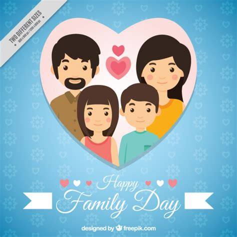 Blue Family by Blue Family Day Background Vector Free Download