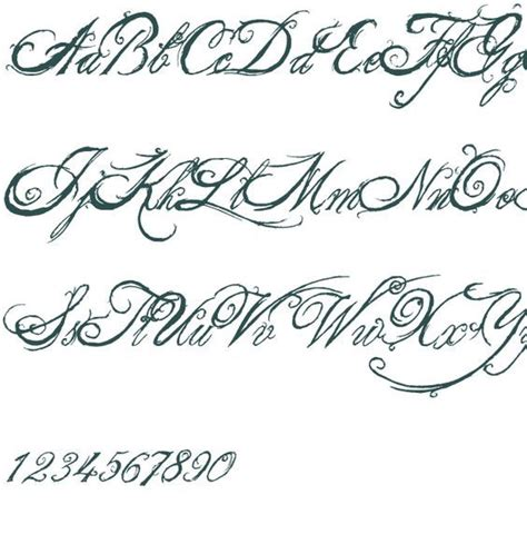 tattoo font queen fancy fonts the king font font free