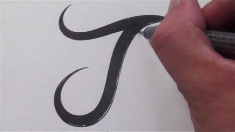Letter J Drawing by How To Draw A Simple Tribal Letter J