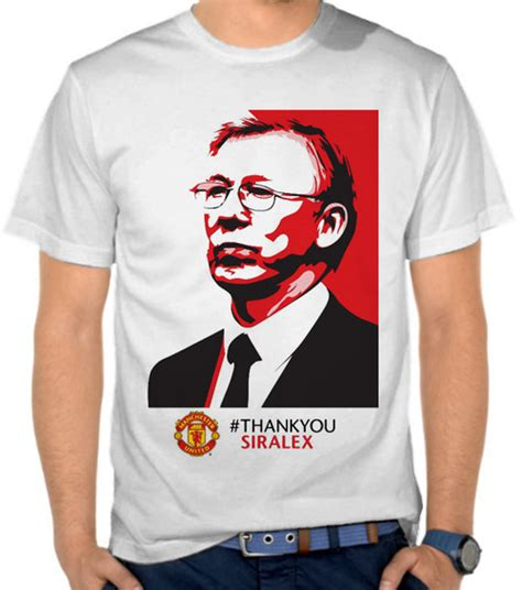 Kaos Bola United Bs 34 jual kaos thank you sir alex manchester united liga