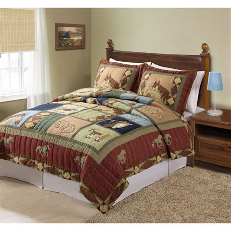 my world horses bedding quilt set bedding walmart com