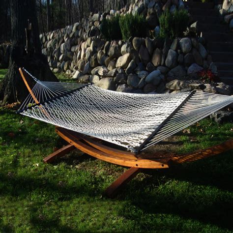 White Hammock Shop Outdoor Oasis White Rope Hammock