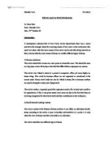 informal memo report sle informal report on work related stress