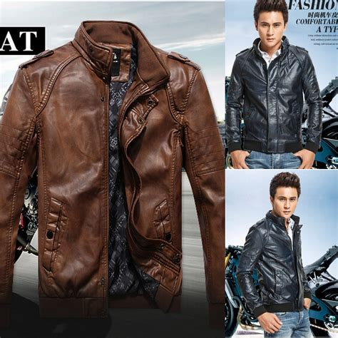 motorcycle style leather jacket 2014 autumn male leather jacket men fashion motorcycle