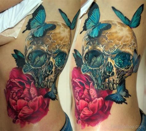 butterfly skull tattoos butterfly tattoos designs pictures page 10