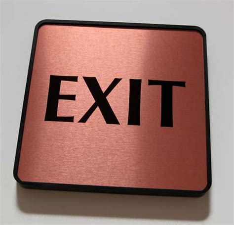 Handmade Plaques - exit signs for office wall check out signs policy wall