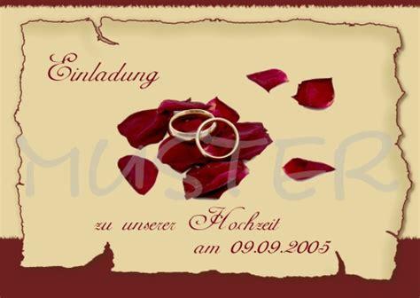 Einladung Hochzeit Zeitpunkt by Einladung Hochzeit Rosenbl 228 Tte