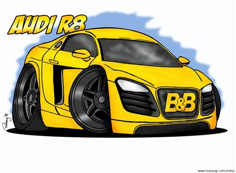 cartoon audi r8 cartoon audi r8 b b edition