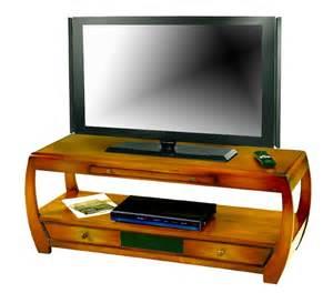 meuble tele bas merisier