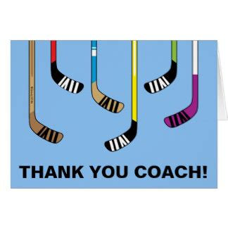 printable hockey thank you cards thank you hockey coach greeting cards zazzle