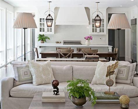 farmhouse chic living room halvorson design kitchen and dining area