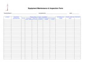 equipment maintenance schedule template free harness inspection form safety checklist form