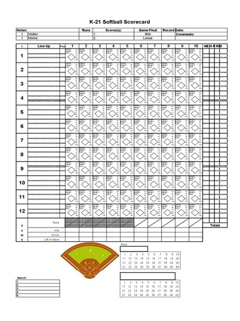 baseball score sheet template best resumes