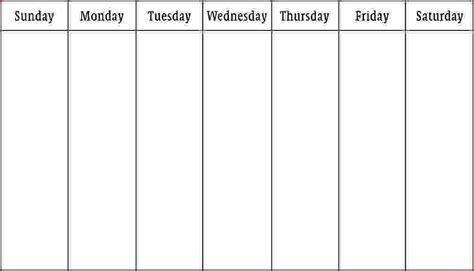work week calendar template search results for 6 week blank schedule template
