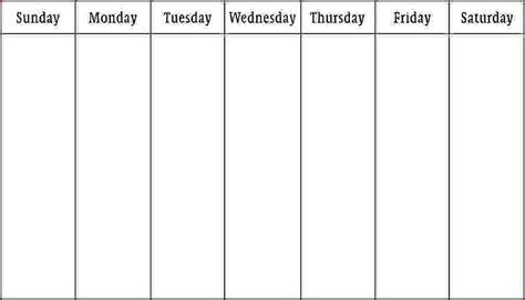 work week calendar template search results for 6 week blank schedule template