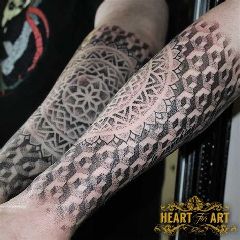 3d tattoo in uk 3d dotwork tattoo sleeve portfolio heart for art