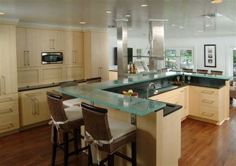 Glass Top Kitchen Island | 60 great bar stool ideas how to pick the perfect design