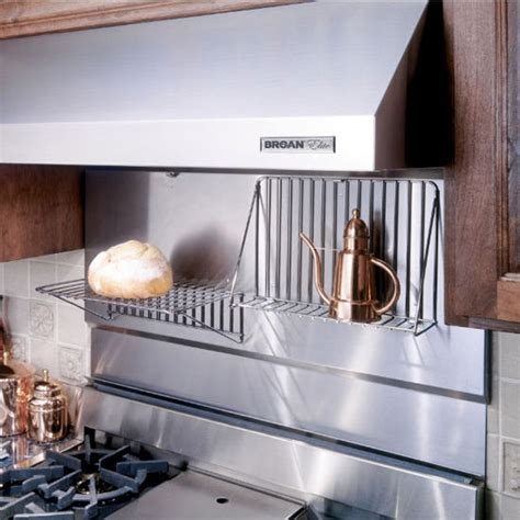 stainless steel backsplash with shelf range hoods stainless steel backsplash with shelves available in different sizes by broan