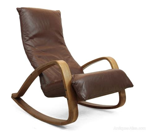 Retro Armchairs For Sale Antiques Atlas Mid Century Leather Rocking Chair By