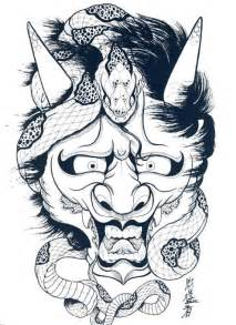 Outline In Color Masks Japanese by Japanese Hannya Mask Designs By Horimouja Outline Stencil Great Book Ebay