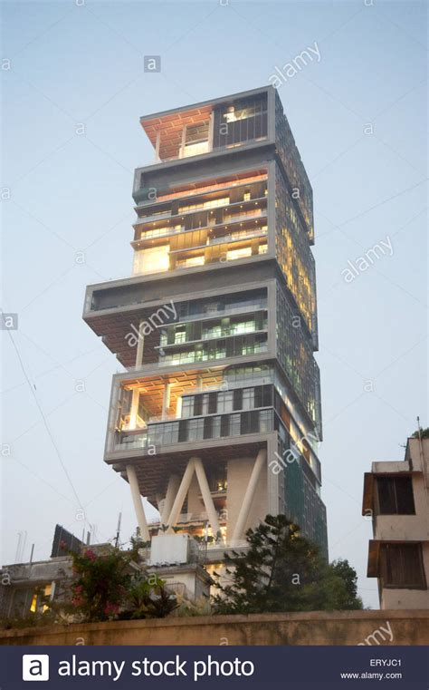 ambani house antilla house of mukesh ambani bombay mumbai maharashtra stock photo royalty