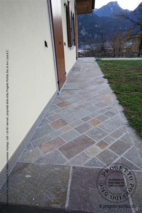 Posa Piastrelle Diagonale by Piastrelle Posa Diagonale Di Porfido Trentino Piano